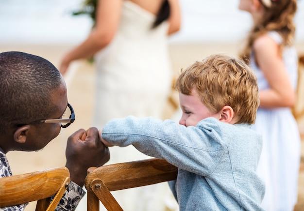 Little boy at a wedding ceremony