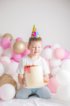 Little boy with cake