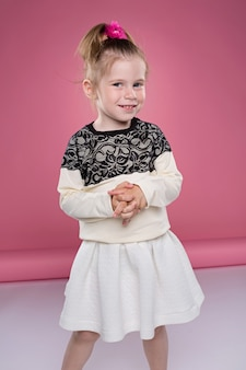 Little cute child kid baby girl 3-4 years