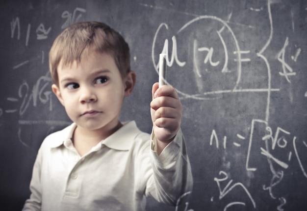 Little genius boy
