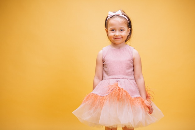 Little girl in cute dress