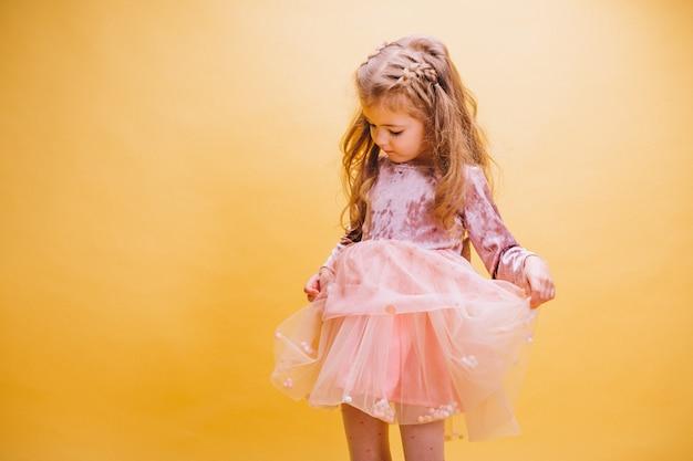 Little girl in cute dress