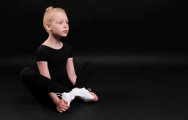 Little girl doing yoga
