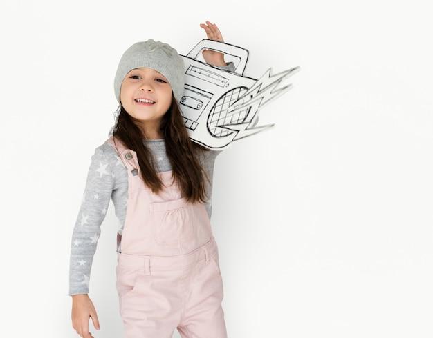 Little girl having fun portrait