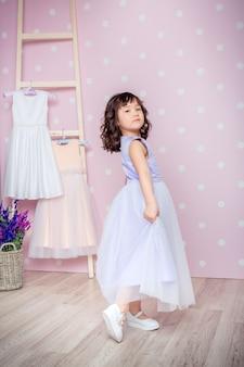 Little girl in princess dress