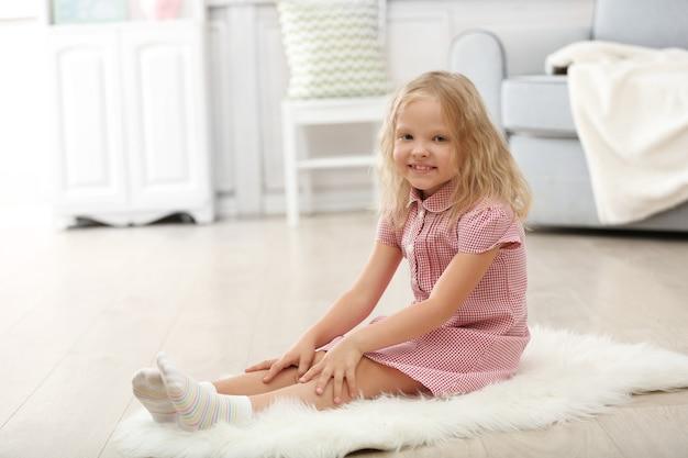Little girl in the room