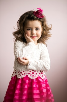Little girl in studio
