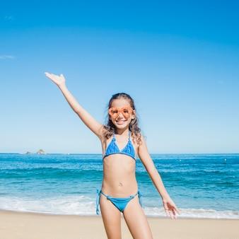 Little girl at summer time