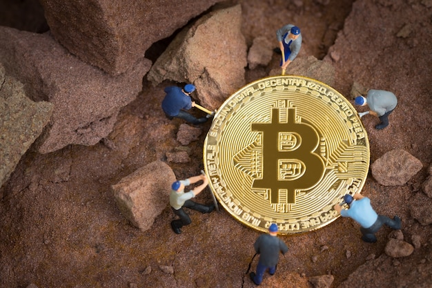 Little miner is digging for bitcoin