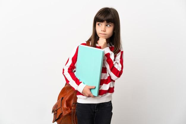 Маленькая девочка студента изолирована