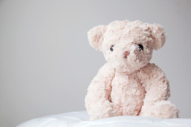 작은 곰 외로운 느낌, 희망을 기다리는 생각 곰 인형