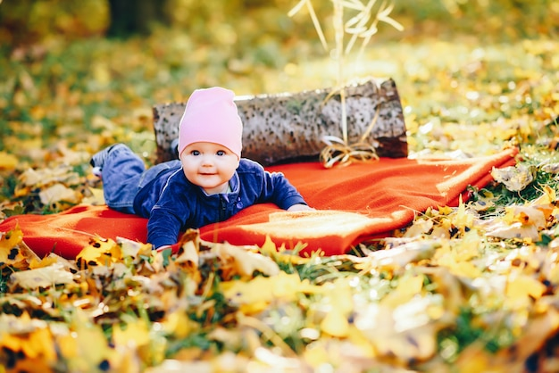 Little toddler in a park