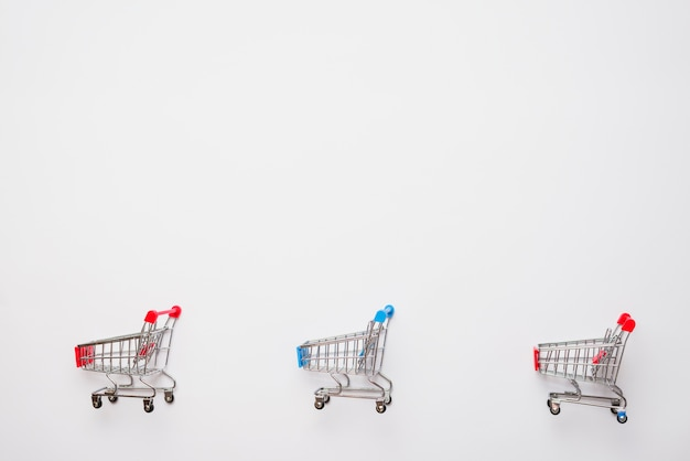 Little toy shopping trolleys