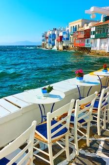 그리스 미코노스 섬의 작은 베니스, 키클라데스