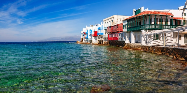 Маленькая венеция на острове миконос, греция