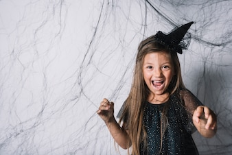 Little witch behind blackweb