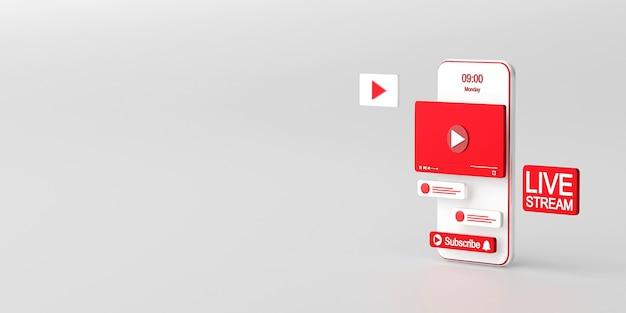 スマートフォンのソーシャルメディアアプリケーションでのライブストリーミング