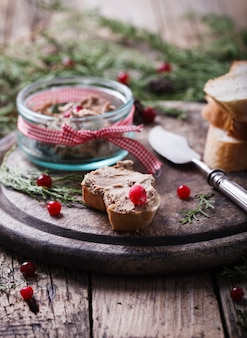 Liver pate appetizer christmas