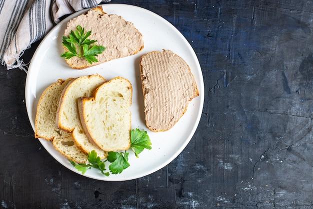 レバーパテチキン前菜ミートサンドイッチフレッシュポーション