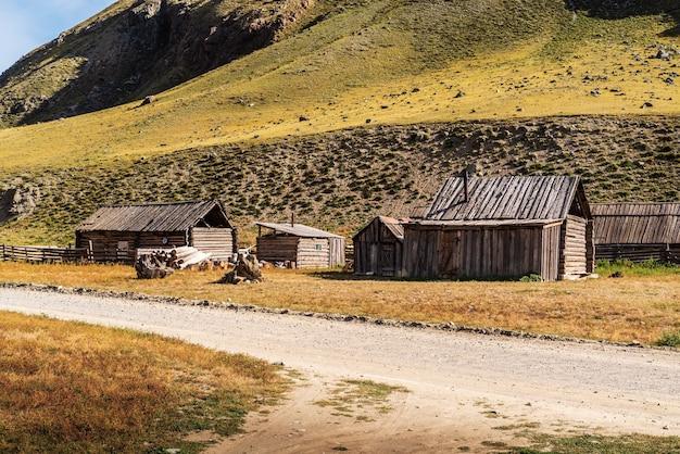 산에서 가축 농장입니다. 출리쉬만 계곡. 알타이, 러시아