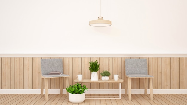 Жилая площадь в кондоминиуме или квартире - 3d рендеринг