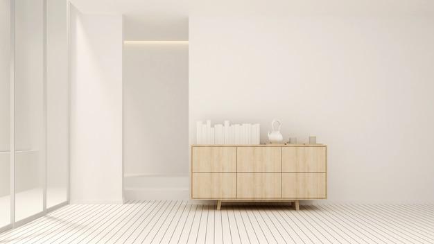 Жилая площадь в белых тонах в доме или квартире
