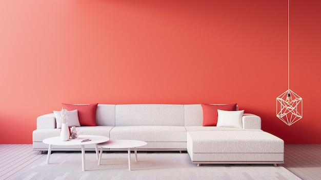 Living coral interior/color of the year for festive and valentine