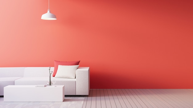 Living coral interior / color of the year for festive and valentine