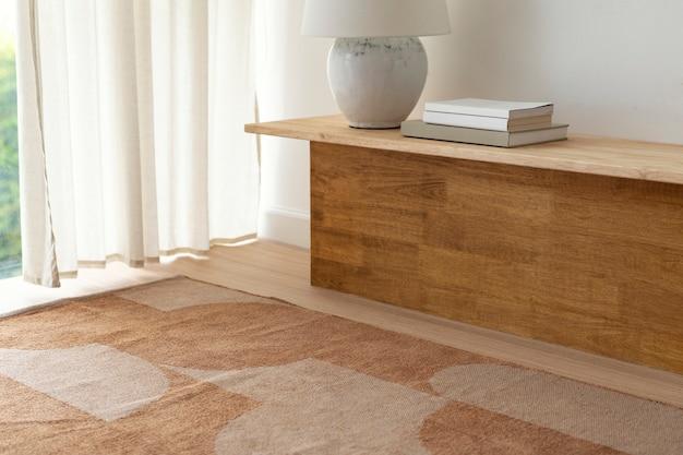Immagine del soggiorno, decorazioni per la casa in legno caldo