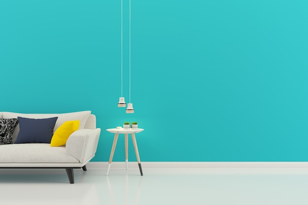 Living room interior house floor background with copyspace