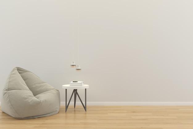 Living room interior house floor template