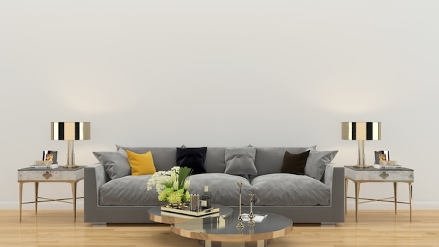 Living room interior house template background