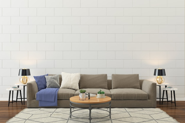 Living room interior wall house floor template background