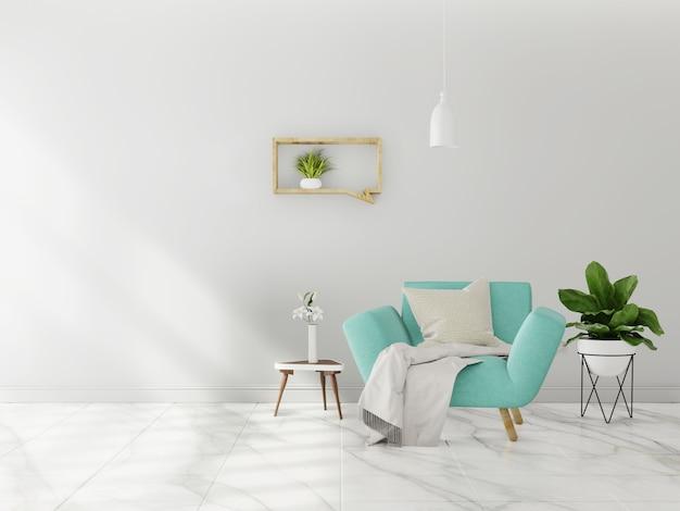 Living room interior wall mock up
