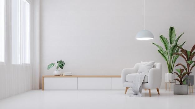 Интерьер гостиной с растением
