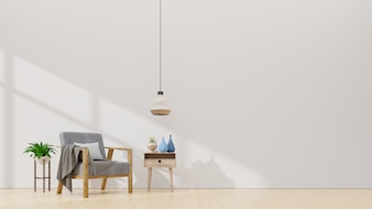 Living Room interior with velvet armchair