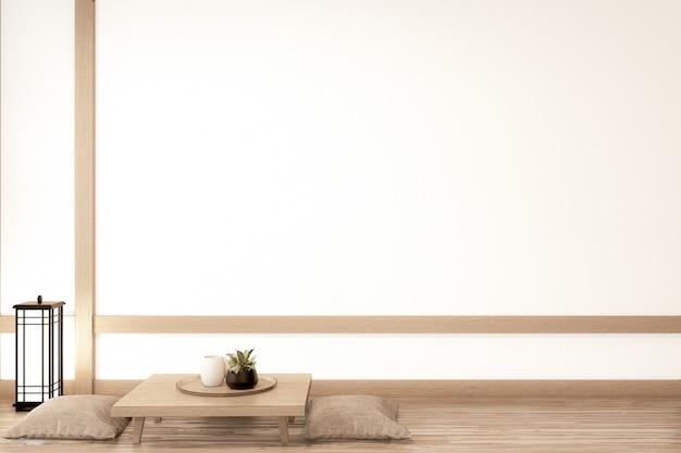 Living room japanese deisgn. 3d rendering