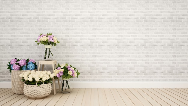 Living room or other room decoration flower - 3d rendering