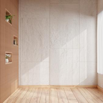 Гостиная с глухой бетонной стеной