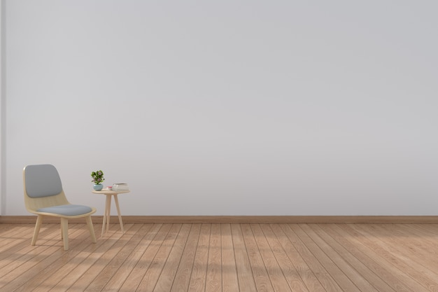 Living room with modern chairs,3d rendering