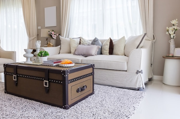 Living room with upholstered furniture