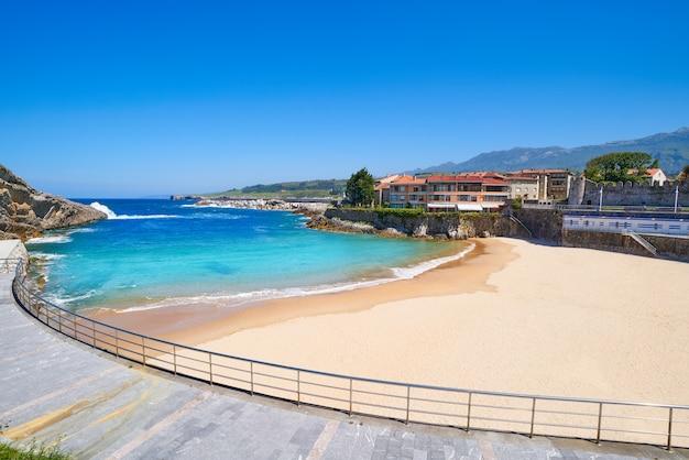 Llanes el sablon beach in asturias spain