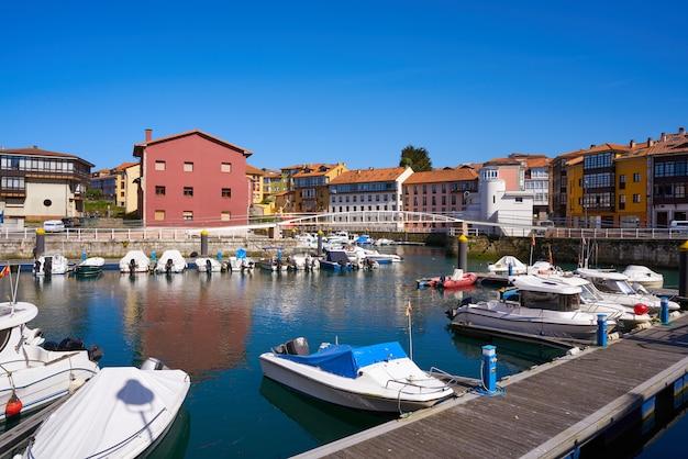Llanes village port marina in asturias spain