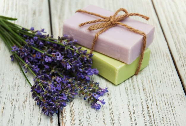 Llavender with soap