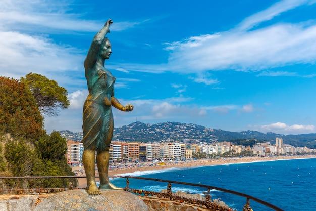 Lloret de mar on the costa brava, catalunya, spain