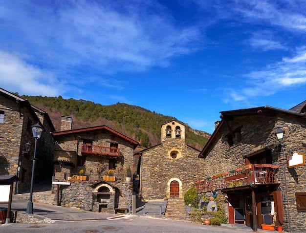 Llorts village in ordino church in andorra