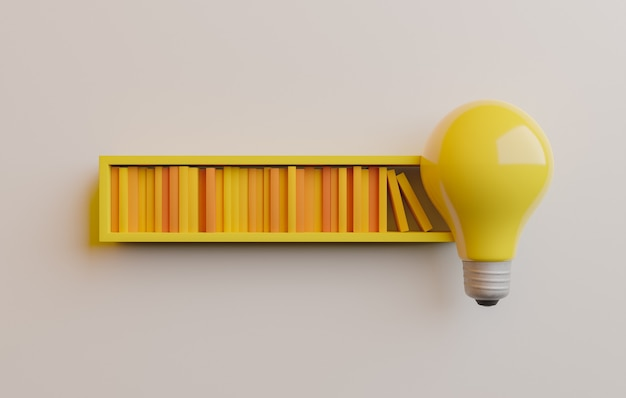 Load bar with books and light bulb