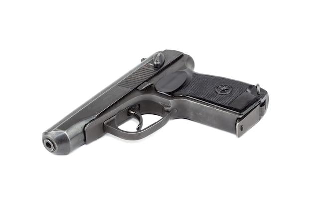 로드 러시아 총기, 흰색 표면에 절연