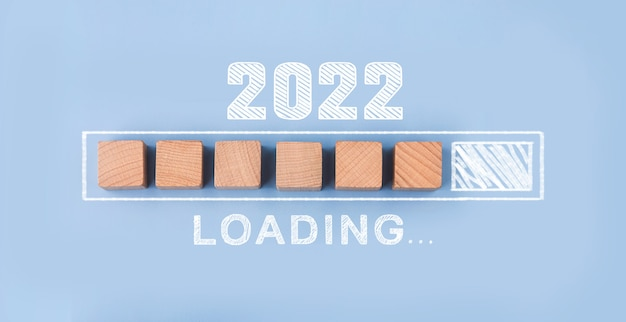 Loading year 2021 to 20222022 happy new year concept