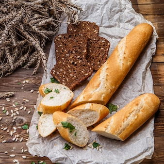Loaf and bread with grains